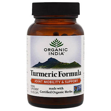 Organic India, Куркума, здоровая иммунная реакция, 90 капсул в растительной оболочке