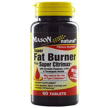 Mason Natural, Супер жиросжигатель с супер Citrimax, 60 таблеток