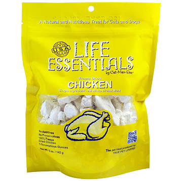 Cat-Man-Doo, Life Essentials, Freeze Dried Chicken for Cats & Dogs, 5 oz (142 g)