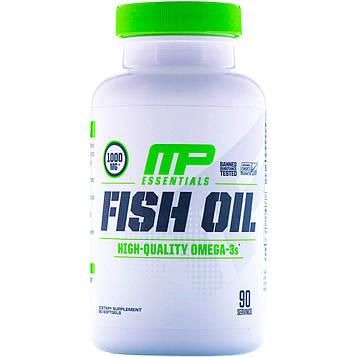 MusclePharm, Серия Essentials, рыбий жир, 90 мягких желатиновых капсул