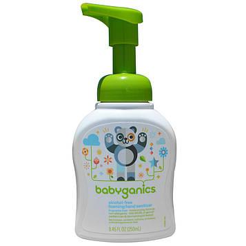 BabyGanics, Пенящееся дезинфицирующее средство для рук, без спирта и отдушек, 8,45 жидких унций (250 мл)