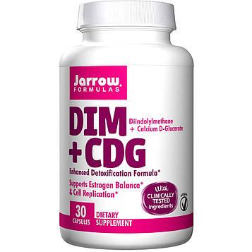 Jarrow Formulas, DIM + CDG, улучшенная формула детоксикации, 30 овощных капсул
