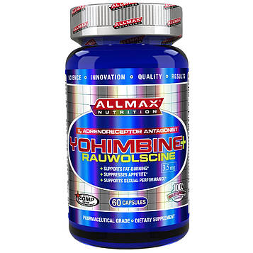 ALLMAX Nutrition, Йохимбин HCl + альфа-йохимбин (Йохимбе максимальной силы), 3,5 мг, 60 вегетарианских капсул