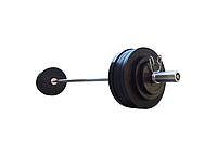 Штанга обрезиненная RN-Sport  125 кг с олимпийским грифом 220 см