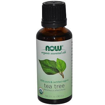 Now Foods, Органическое эфирное масло чайного дерева, 1 жидкая унция (30 мл)