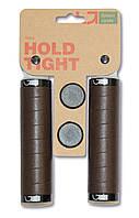 Грипсы Green Cycle GC-G220 130mm кожанные коричневые с двумя замками