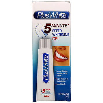 Plus White, 5 Minute Speed Whitening Gel, 2,0 унц (56 г)
