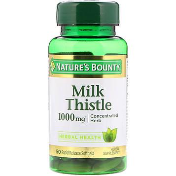 Natures Bounty, Расторопша, 1000 мг*, 50 мягких капсул