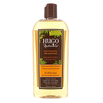 Hugo Naturals, Шампунь для придания объема, Ваниль и сладкий апельсин, 12 жидких унций (355 мл)