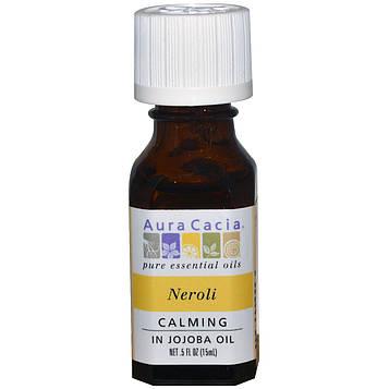 Aura Cacia, Нероли (в масле жожоба) 0.5 жидких унций (15 мл)