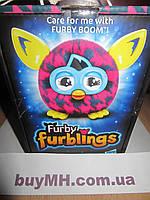 Furby Furbling Critter (Pink and Blue Houndstooth) Ферби Ферблинг (Фиолетовые штрихи), фото 1