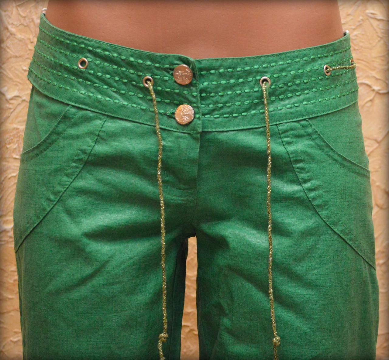 Женские брюки лен 42
