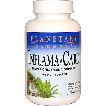 Planetary Herbals, Inflama-Care, 1,165 мг, 60 таблеток