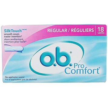 O.b., Pro Comfort, стандартные, 18 тампонов
