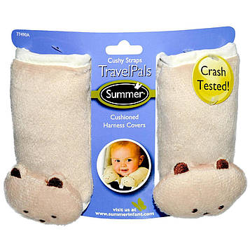 Summer Infant, Travel Pals, уютные ременные петли, 2 покрытия на жгуты