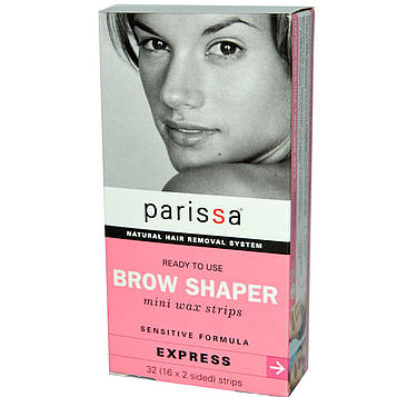 Parissa, Brow Shaper, восковые мини полоски, 32 (16 x двухсторонние) штуки
