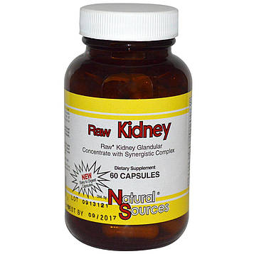 Natural Sources, Raw Kidney, 60 капсул