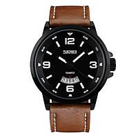 Часы Skmei 9115 Black Brown Band BOX, КОД: 116326
