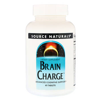Source Naturals, Brain Charge, 60 таблеток