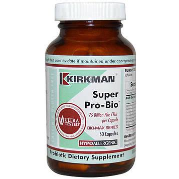 Kirkman Labs, Bio-Max Series, Super Pro-Bio, Высокоэффективный пробиотик, 60 капсул (Ice)
