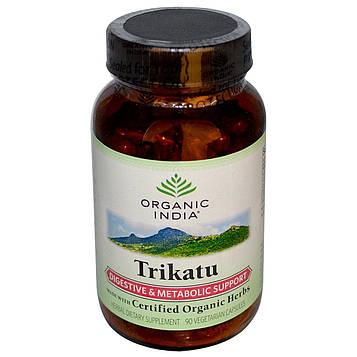 Organic India, Трикату, помощь при пищеварении и метаболизме, 90 вегетарианских капсул
