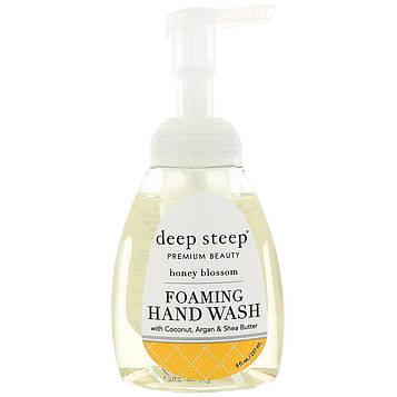 Deep Steep, Foaming Hand Wash, Honey Blossom, 8 fl oz (237 ml)