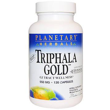 Planetary Herbals, Трифала Голд, здоровье желудочно-кишечного тракта, 550 мг, 120 капсул