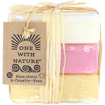 One with Nature, Dead Sea Mineral Soap Bars, Goats Milk, Wildberry and Lemon Verbena, 1 Pack of 3 Bars, 4 oz (114 g) Each