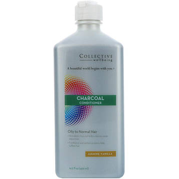 Life Flo Health, Кондиционер с активированным углем, для нормальных и жирных волос, жасмин и ваниль, 14,5 жидк. унц. (429 мл)