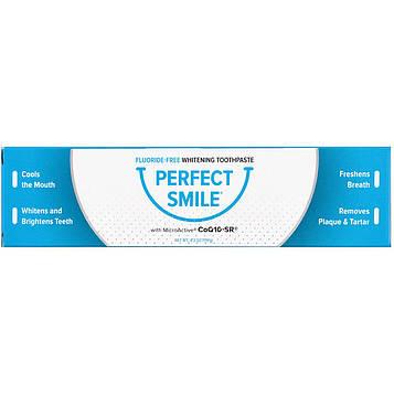 Perfect Smile, Отбеливающая паста с CoQ10-SR, не содержит фторидов, 4.2 унции (119 г)