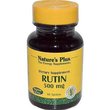 Natures Plus, Рутин, 500 мг, 60 таблеток