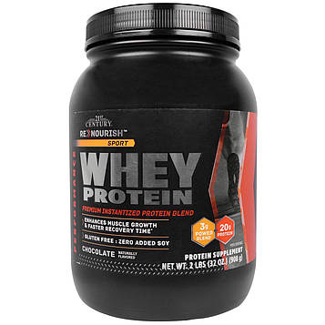 21st Century, ReNourish спортивный, сывороточный белок с шоколадным вкусом, 32 унции (908 г)