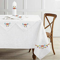 Льняная скатерть + салфетки 150x175