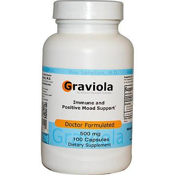 Advance Physician Formulas, Inc., Гравиола, 500 мг, 100 капсул