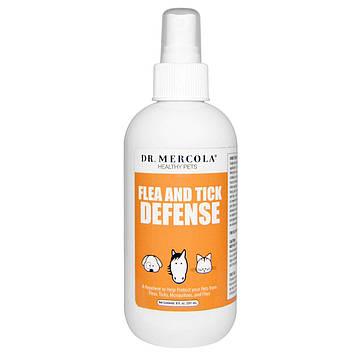 Dr. Mercola, защита от блох и клещей, для собак и кошек, 237 мл (8 унций)