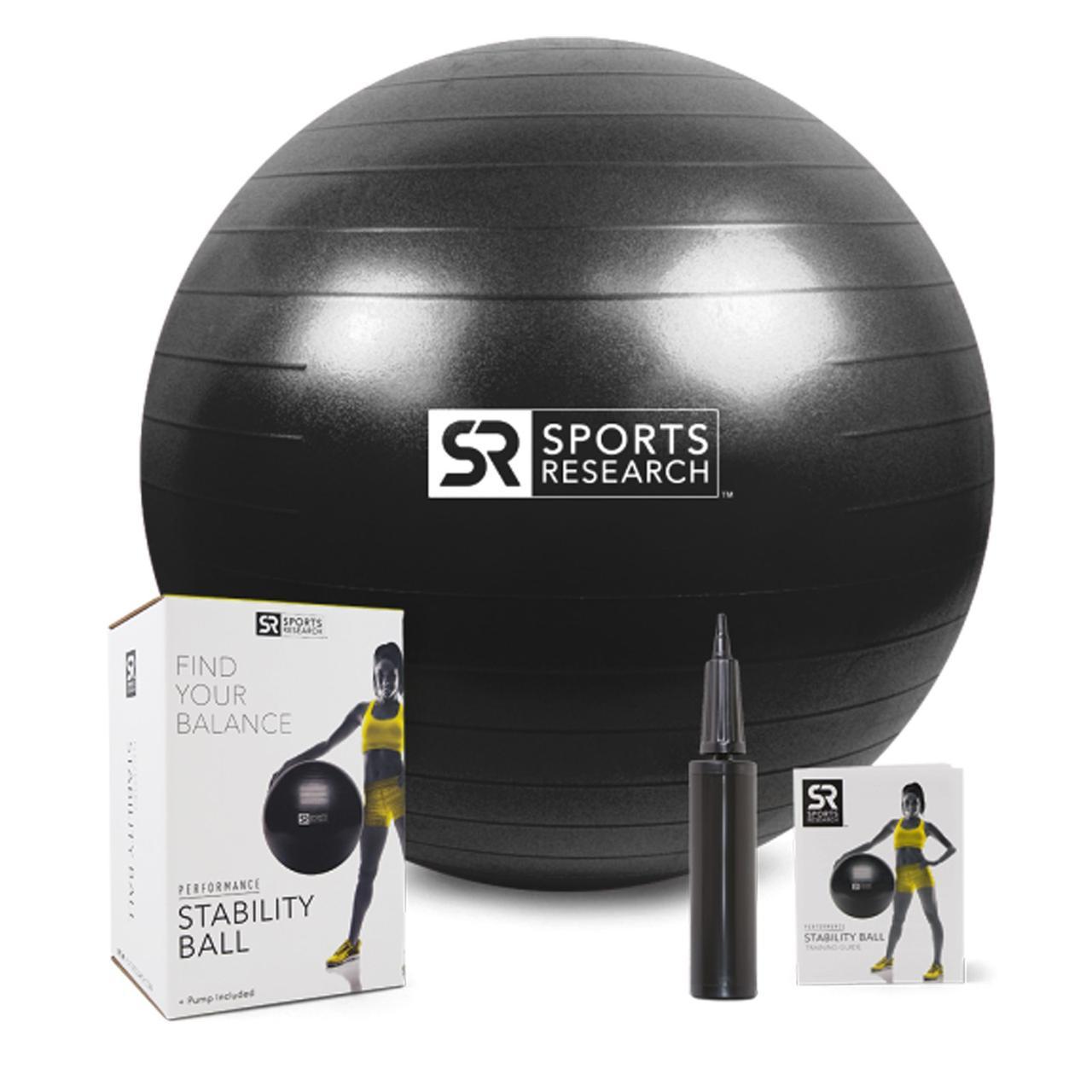 Sports Research, Мяч для Тренировки Баланса, Черный, 1-65 см