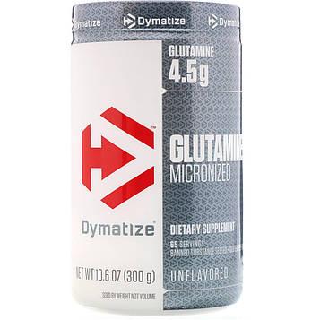 Dymatize Nutrition, Глутамин микронизированный, Без ароматизаторов, 10,6 унц. (300 г)
