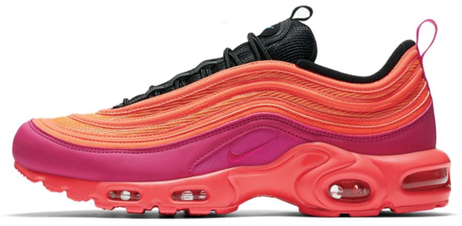 Женские кроссовки Nike Air Max Plus 97 'Pink' (Найк Аир Макс) розовые