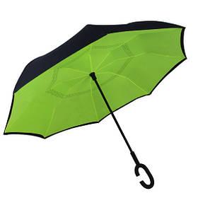 Зонт обратного сложения Up-Brella Зеленый + чехол 28000-nri, КОД: 185123