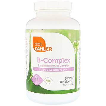 Zahler, B-Complex, rкомплекс витаминов группы В длительного усвоения, 180 капсул