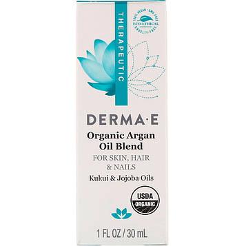 Derma E, Органическое аргановое масло, 1 унция (30 мл)