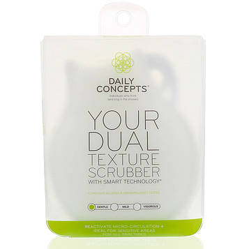 Daily Concepts, Ваш скребок с двумя текстурами, мягкий, 1 скребок