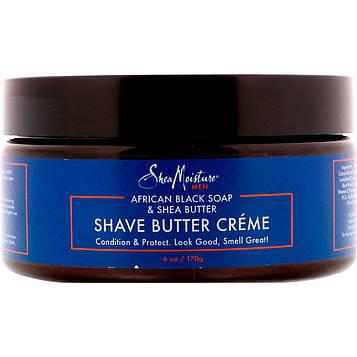 Shea Moisture, Африканское черное мыло и масло ши, масляный крем для бриться, 170 г