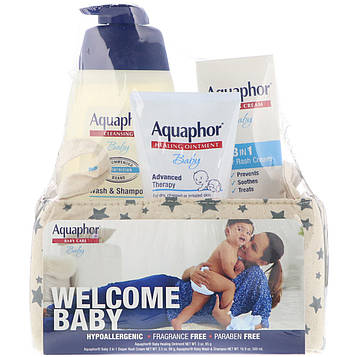 Aquaphor, Baby Care, Welcome Baby, 3 Piece Set, Large, 3 Pieces