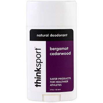 Think, Thinksport, натуральный дезодорант, бергамот и кедр, 2,9 унции (85,8 мл)