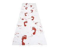 Наклейка Следы ног человека кровавые