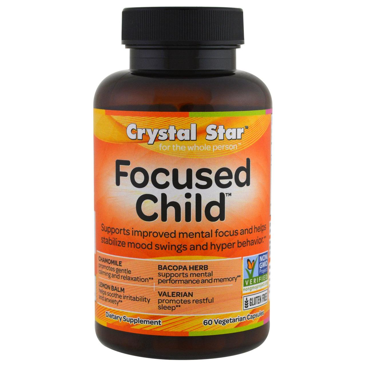Crystal Star, Focused Child, 60 Veggie Capsules
