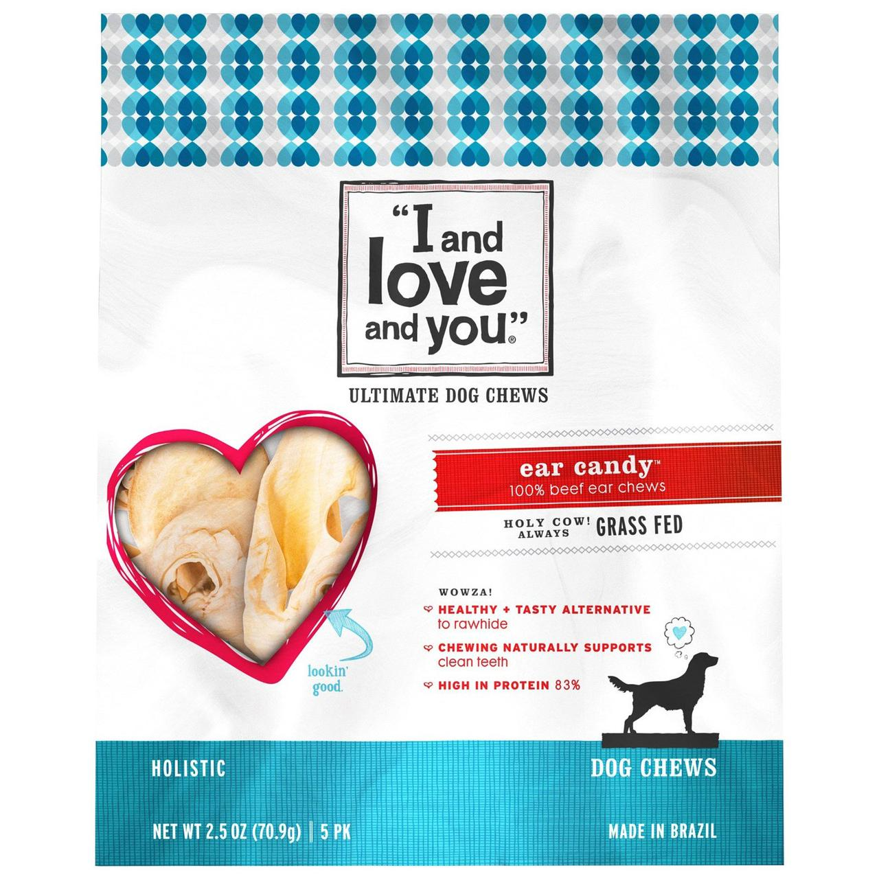 I and Love and You, Ultimate Dog Chews, Сласти для Уха, 5 упаковок, 2,5 унции (70,9 г)