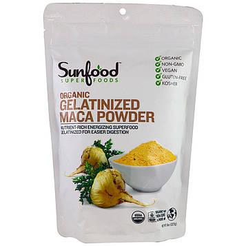 Sunfood, Органический желатинированный порошок мака, 8 унций (227 г)
