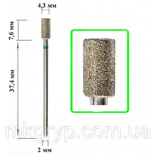 Алмазная насадка Цилиндр Green 4,3*7,6